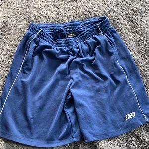 Blue Reebok gym shorts